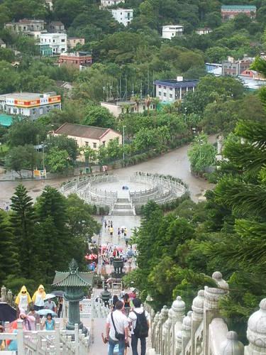 大仏殿から下界を眺む