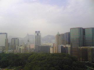 今朝の香港はこんな感じ。
