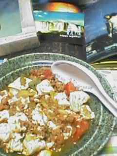 蕃茄麻姿豆腐を作ってみた。